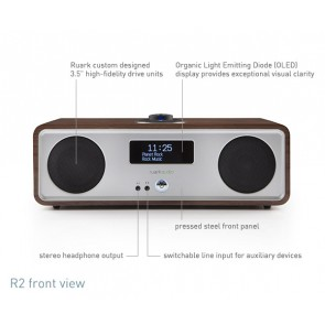 RADIO DA TAVOLO RUARK AUDIO WIRELESS BLUETOOTH R2S WALNUT